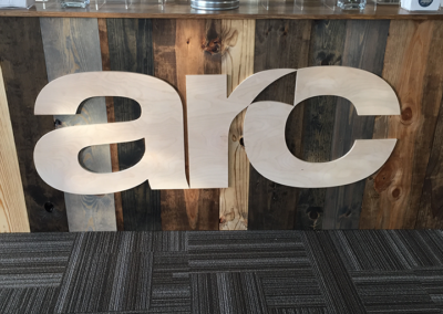 ARC Conference - Custom Cut Wood Logo