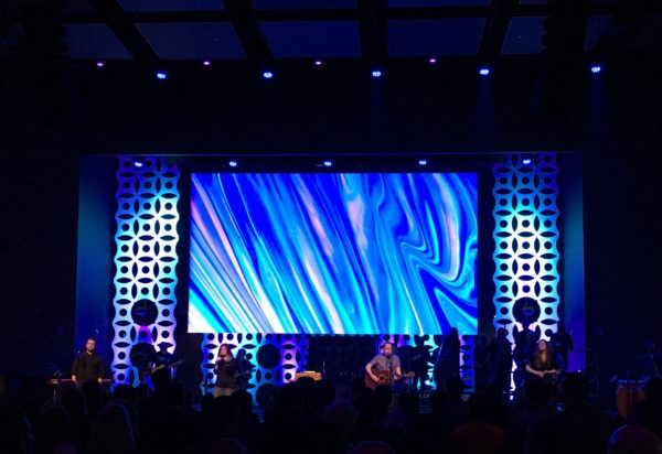 First Baptist Church Forney Circlet Stage Backdrop