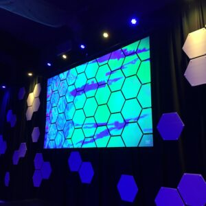 Mod Scenes Church Projection Backdrp 37 Hexagon Screen