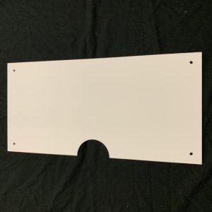 Half panel cable cutout